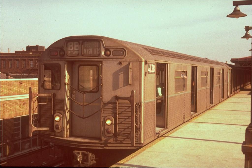 (167k, 1024x684)<br><b>Country:</b> United States<br><b>City:</b> New York<br><b>System:</b> New York City Transit<br><b>Line:</b> BMT West End Line<br><b>Location:</b> Bay Parkway <br><b>Route:</b> B<br><b>Car:</b> R-38 (St. Louis, 1966-1967)  4138 <br><b>Photo by:</b> Steve Zabel<br><b>Collection of:</b> Joe Testagrose<br><b>Viewed (this week/total):</b> 2 / 4375