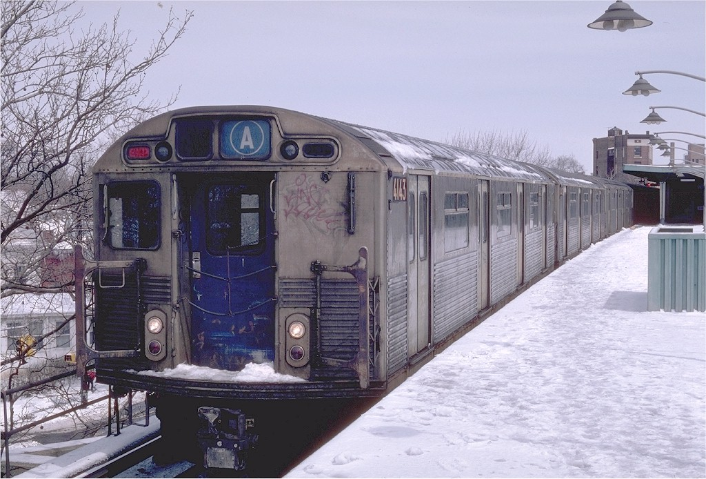 (222k, 1024x694)<br><b>Country:</b> United States<br><b>City:</b> New York<br><b>System:</b> New York City Transit<br><b>Line:</b> IND Rockaway<br><b>Location:</b> Mott Avenue/Far Rockaway <br><b>Route:</b> A<br><b>Car:</b> R-38 (St. Louis, 1966-1967)  4143 <br><b>Photo by:</b> Steve Zabel<br><b>Collection of:</b> Joe Testagrose<br><b>Date:</b> 4/7/1982<br><b>Viewed (this week/total):</b> 3 / 6019