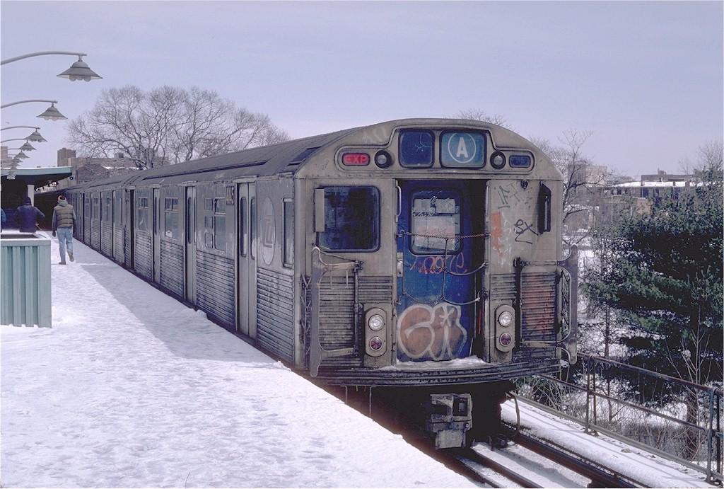 (219k, 1024x691)<br><b>Country:</b> United States<br><b>City:</b> New York<br><b>System:</b> New York City Transit<br><b>Line:</b> IND Rockaway<br><b>Location:</b> Mott Avenue/Far Rockaway <br><b>Route:</b> A<br><b>Car:</b> R-38 (St. Louis, 1966-1967)  4145 <br><b>Photo by:</b> Steve Zabel<br><b>Collection of:</b> Joe Testagrose<br><b>Date:</b> 4/7/1982<br><b>Viewed (this week/total):</b> 5 / 5716