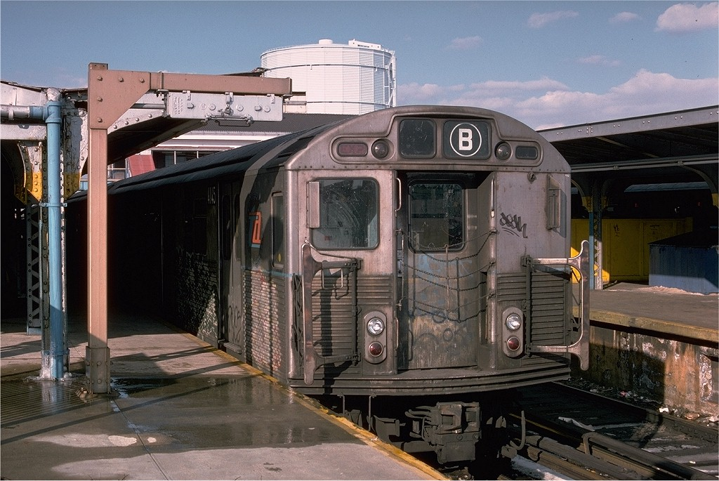 (219k, 1024x685)<br><b>Country:</b> United States<br><b>City:</b> New York<br><b>System:</b> New York City Transit<br><b>Location:</b> Coney Island/Stillwell Avenue<br><b>Route:</b> B<br><b>Car:</b> R-38 (St. Louis, 1966-1967)  4145 <br><b>Photo by:</b> Joe Testagrose<br><b>Date:</b> 1/26/1977<br><b>Viewed (this week/total):</b> 1 / 4389