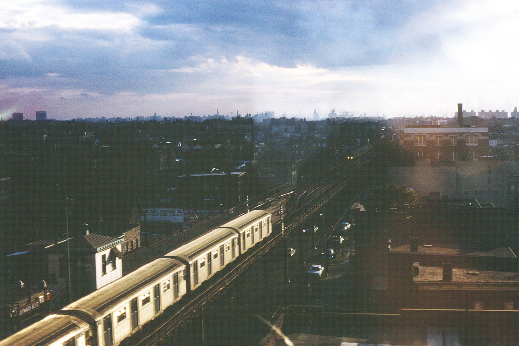 (367k, 1044x709)<br><b>Country:</b> United States<br><b>City:</b> New York<br><b>System:</b> New York City Transit<br><b>Line:</b> BMT Astoria Line<br><b>Location:</b> Ditmars Boulevard <br><b>Car:</b> R-32 (Budd, 1964)   <br><b>Collection of:</b> David Pirmann<br><b>Notes:</b> Stormy afternoon<br><b>Viewed (this week/total):</b> 1 / 7286