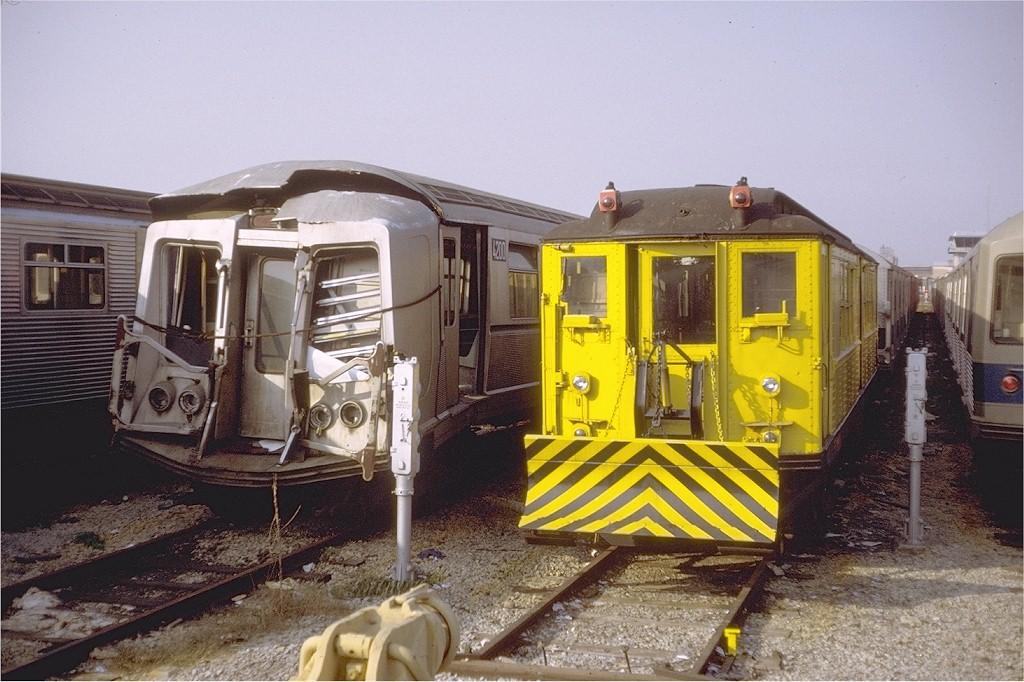 (208k, 1024x682)<br><b>Country:</b> United States<br><b>City:</b> New York<br><b>System:</b> New York City Transit<br><b>Location:</b> Coney Island Yard<br><b>Car:</b> R-40 (St. Louis, 1968)  4200 <br><b>Photo by:</b> Steve Zabel<br><b>Collection of:</b> Joe Testagrose<br><b>Date:</b> 10/30/1971<br><b>Viewed (this week/total):</b> 8 / 11243
