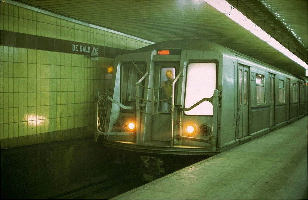 (149k, 1024x667)<br><b>Country:</b> United States<br><b>City:</b> New York<br><b>System:</b> New York City Transit<br><b>Location:</b> DeKalb Avenue<br><b>Car:</b> R-40 (St. Louis, 1968)  4210 <br><b>Photo by:</b> Doug Grotjahn<br><b>Collection of:</b> Joe Testagrose<br><b>Date:</b> 7/5/1969<br><b>Viewed (this week/total):</b> 1 / 4423