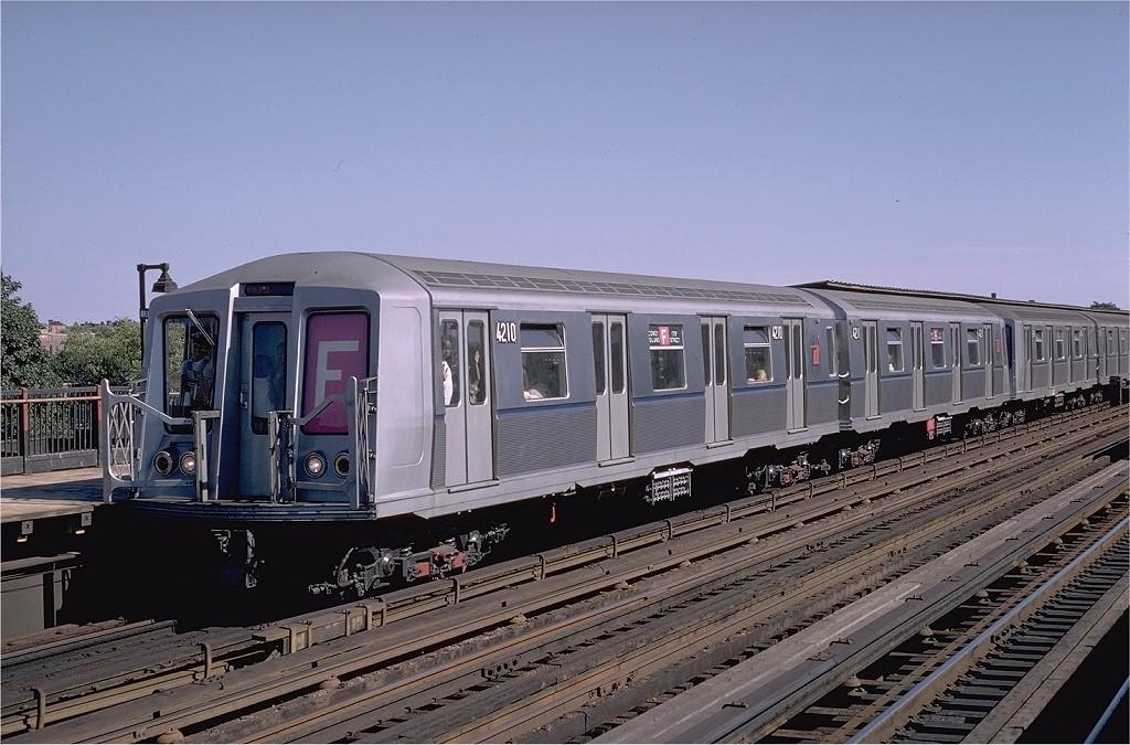 (206k, 1024x675)<br><b>Country:</b> United States<br><b>City:</b> New York<br><b>System:</b> New York City Transit<br><b>Line:</b> BMT Culver Line<br><b>Location:</b> Avenue P <br><b>Route:</b> F<br><b>Car:</b> R-40 (St. Louis, 1968)  4210 <br><b>Photo by:</b> Doug Grotjahn<br><b>Collection of:</b> Joe Testagrose<br><b>Date:</b> 8/11/1968<br><b>Viewed (this week/total):</b> 0 / 3669
