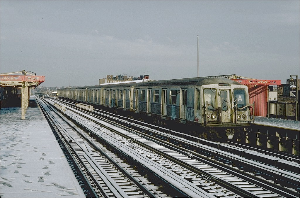 (240k, 1024x679)<br><b>Country:</b> United States<br><b>City:</b> New York<br><b>System:</b> New York City Transit<br><b>Line:</b> BMT West End Line<br><b>Location:</b> 20th Avenue <br><b>Route:</b> B<br><b>Car:</b> R-40 (St. Louis, 1968)  4235 <br><b>Photo by:</b> Steve Zabel<br><b>Collection of:</b> Joe Testagrose<br><b>Date:</b> 12/16/1981<br><b>Viewed (this week/total):</b> 0 / 5960