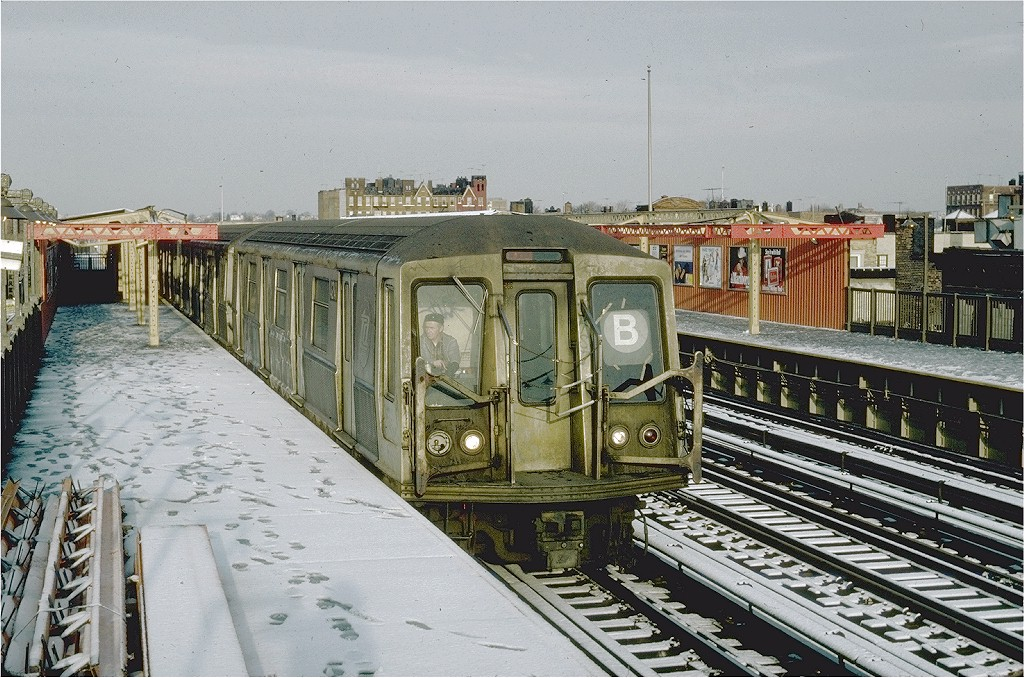 (249k, 1024x678)<br><b>Country:</b> United States<br><b>City:</b> New York<br><b>System:</b> New York City Transit<br><b>Line:</b> BMT West End Line<br><b>Location:</b> 20th Avenue <br><b>Route:</b> B<br><b>Car:</b> R-40 (St. Louis, 1968)  4241 <br><b>Photo by:</b> Steve Zabel<br><b>Collection of:</b> Joe Testagrose<br><b>Date:</b> 12/16/1981<br><b>Viewed (this week/total):</b> 4 / 6233