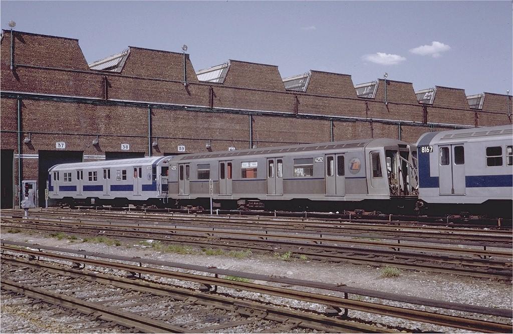 (266k, 1024x666)<br><b>Country:</b> United States<br><b>City:</b> New York<br><b>System:</b> New York City Transit<br><b>Location:</b> Coney Island Yard<br><b>Car:</b> R-40 (St. Louis, 1968)  4252 (ex-4352)<br><b>Photo by:</b> Steve Zabel<br><b>Collection of:</b> Joe Testagrose<br><b>Date:</b> 5/17/1971<br><b>Viewed (this week/total):</b> 0 / 4196