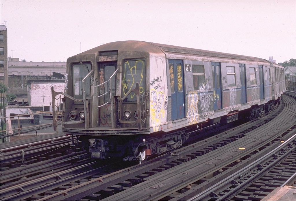 (205k, 1024x695)<br><b>Country:</b> United States<br><b>City:</b> New York<br><b>System:</b> New York City Transit<br><b>Line:</b> BMT West End Line<br><b>Location:</b> 18th Avenue <br><b>Route:</b> B<br><b>Car:</b> R-40 (St. Louis, 1968)  4276 (ex-4376)<br><b>Photo by:</b> Eric Oszustowicz<br><b>Collection of:</b> Joe Testagrose<br><b>Viewed (this week/total):</b> 0 / 4490
