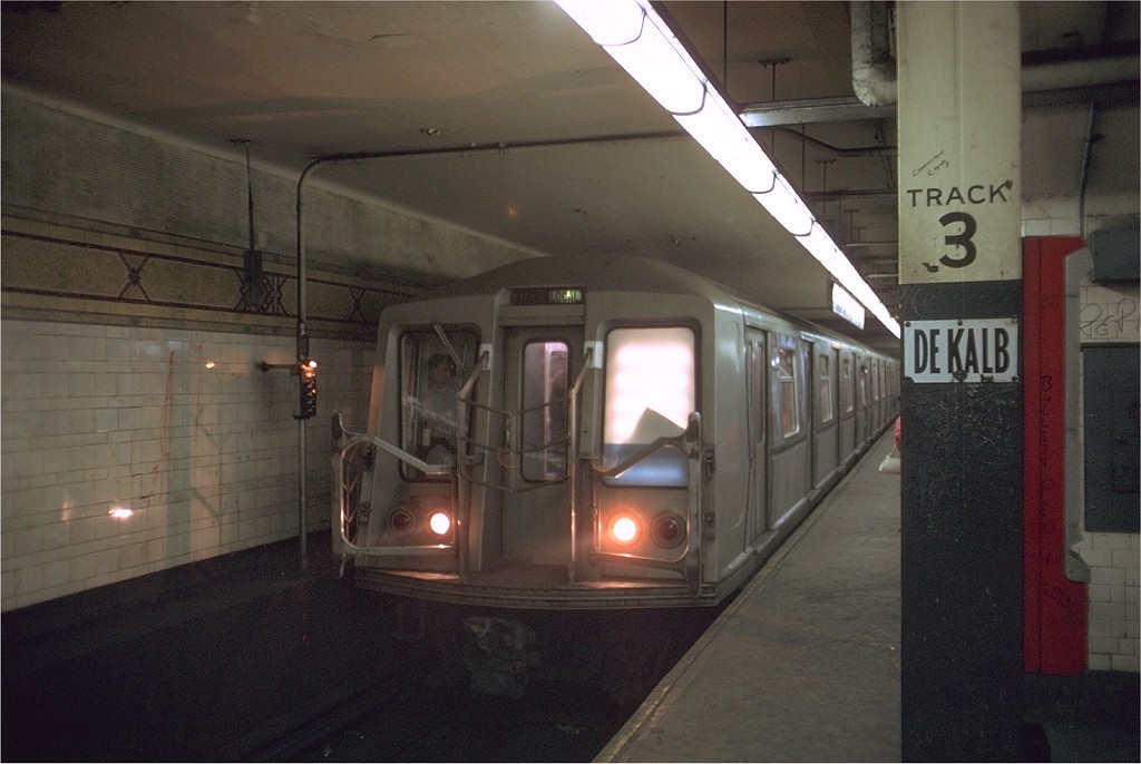 (164k, 1024x686)<br><b>Country:</b> United States<br><b>City:</b> New York<br><b>System:</b> New York City Transit<br><b>Location:</b> DeKalb Avenue<br><b>Route:</b> B<br><b>Car:</b> R-40 (St. Louis, 1968)  4406 (ex-4506)<br><b>Photo by:</b> Doug Grotjahn<br><b>Collection of:</b> Joe Testagrose<br><b>Date:</b> 7/27/1969<br><b>Viewed (this week/total):</b> 2 / 4059