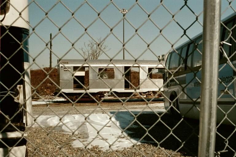 (77k, 768x512)<br><b>Country:</b> United States<br><b>City:</b> New York<br><b>System:</b> New York City Transit<br><b>Line:</b> South Brooklyn Railway<br><b>Location:</b> SBK Yard (2nd Ave at 38th St.) (SBK)<br><b>Car:</b> R-40 (St. Louis, 1968)  4428 (ex-4528)<br><b>Photo by:</b> Michael Pompili<br><b>Date:</b> 1/27/2001<br><b>Viewed (this week/total):</b> 6 / 6786