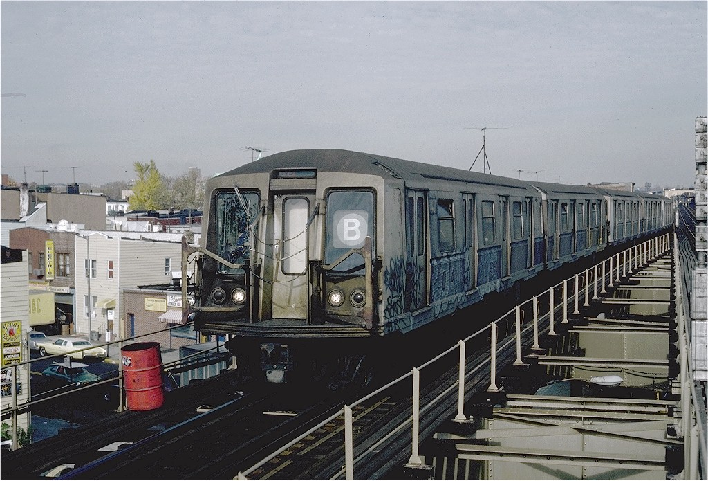 (228k, 1024x695)<br><b>Country:</b> United States<br><b>City:</b> New York<br><b>System:</b> New York City Transit<br><b>Line:</b> BMT West End Line<br><b>Location:</b> 62nd Street <br><b>Route:</b> B<br><b>Car:</b> R-40 (St. Louis, 1968)  4431 (ex-4531)<br><b>Photo by:</b> Steve Zabel<br><b>Collection of:</b> Joe Testagrose<br><b>Date:</b> 11/5/1981<br><b>Viewed (this week/total):</b> 8 / 11526