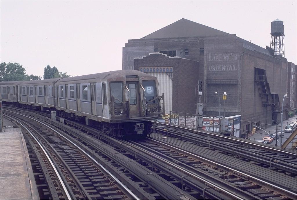 (200k, 1024x690)<br><b>Country:</b> United States<br><b>City:</b> New York<br><b>System:</b> New York City Transit<br><b>Line:</b> BMT West End Line<br><b>Location:</b> 18th Avenue <br><b>Route:</b> B<br><b>Car:</b> R-40 (St. Louis, 1968)  4437 (ex-4537)<br><b>Photo by:</b> Doug Grotjahn<br><b>Collection of:</b> Joe Testagrose<br><b>Date:</b> 8/2/1981<br><b>Viewed (this week/total):</b> 4 / 6303