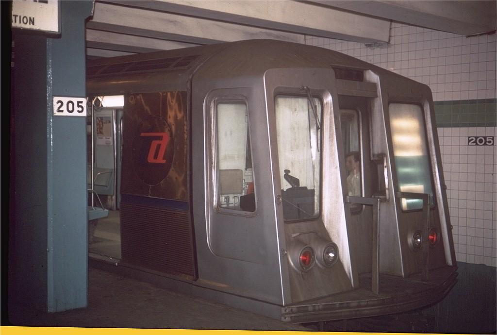 (148k, 1024x690)<br><b>Country:</b> United States<br><b>City:</b> New York<br><b>System:</b> New York City Transit<br><b>Line:</b> IND Concourse Line<br><b>Location:</b> 205th Street <br><b>Route:</b> D<br><b>Car:</b> R-40 (St. Louis, 1968)  4448 (ex-4548)<br><b>Photo by:</b> Doug Grotjahn<br><b>Collection of:</b> Joe Testagrose<br><b>Date:</b> 6/29/1969<br><b>Viewed (this week/total):</b> 5 / 6564