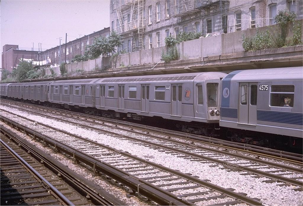 (301k, 1024x697)<br><b>Country:</b> United States<br><b>City:</b> New York<br><b>System:</b> New York City Transit<br><b>Line:</b> BMT Sea Beach Line<br><b>Location:</b> 18th Avenue <br><b>Route:</b> N<br><b>Car:</b> R-40 (St. Louis, 1968)  4448 (ex-4548)<br><b>Photo by:</b> Doug Grotjahn<br><b>Collection of:</b> Joe Testagrose<br><b>Date:</b> 7/4/1969<br><b>Viewed (this week/total):</b> 3 / 4225