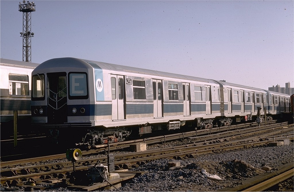 (226k, 1024x670)<br><b>Country:</b> United States<br><b>City:</b> New York<br><b>System:</b> New York City Transit<br><b>Location:</b> Coney Island Yard<br><b>Car:</b> R-40M (St. Louis, 1969)  4256 (ex-4356)<br><b>Photo by:</b> Doug Grotjahn<br><b>Collection of:</b> Joe Testagrose<br><b>Date:</b> 1/12/1969<br><b>Viewed (this week/total):</b> 2 / 4069