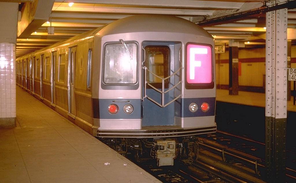 (164k, 1024x634)<br><b>Country:</b> United States<br><b>City:</b> New York<br><b>System:</b> New York City Transit<br><b>Line:</b> IND Crosstown Line<br><b>Location:</b> Church Avenue <br><b>Route:</b> F<br><b>Car:</b> R-40M (St. Louis, 1969)  4277 <br><b>Photo by:</b> Doug Grotjahn<br><b>Collection of:</b> Joe Testagrose<br><b>Date:</b> 9/12/1968<br><b>Viewed (this week/total):</b> 3 / 5920