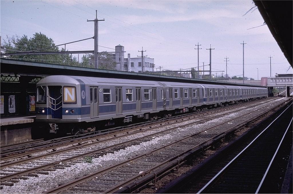(251k, 1024x679)<br><b>Country:</b> United States<br><b>City:</b> New York<br><b>System:</b> New York City Transit<br><b>Line:</b> BMT Sea Beach Line<br><b>Location:</b> Fort Hamilton Parkway <br><b>Route:</b> N<br><b>Car:</b> R-40M (St. Louis, 1969)  4317 <br><b>Photo by:</b> Joe Testagrose<br><b>Date:</b> 5/17/1969<br><b>Viewed (this week/total):</b> 3 / 3192