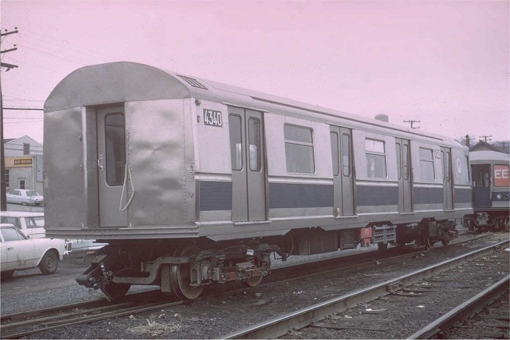 (166k, 1024x683)<br><b>Country:</b> United States<br><b>City:</b> New York<br><b>System:</b> New York City Transit<br><b>Location:</b> Enola Yard, Harrisburg PA<br><b>Car:</b> R-40M (St. Louis, 1969)  4340 <br><b>Photo by:</b> Gerald H. Landau<br><b>Collection of:</b> Joe Testagrose<br><b>Date:</b> 4/1969<br><b>Viewed (this week/total):</b> 1 / 3586