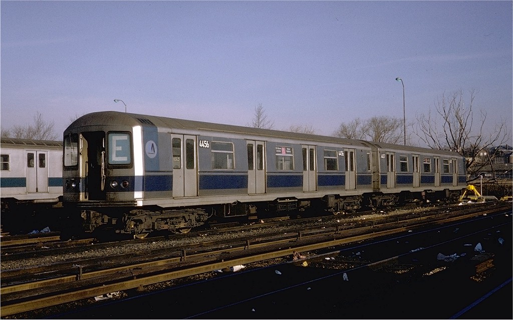 (179k, 1024x638)<br><b>Country:</b> United States<br><b>City:</b> New York<br><b>System:</b> New York City Transit<br><b>Location:</b> Jamaica Yard/Shops<br><b>Car:</b> R-40M (St. Louis, 1969)  4456 (ex-4256)<br><b>Photo by:</b> Steve Zabel<br><b>Collection of:</b> Joe Testagrose<br><b>Date:</b> 2/17/1971<br><b>Viewed (this week/total):</b> 6 / 4572