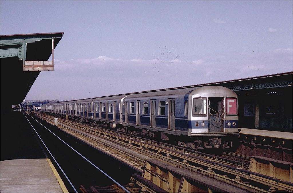 (226k, 1024x677)<br><b>Country:</b> United States<br><b>City:</b> New York<br><b>System:</b> New York City Transit<br><b>Line:</b> BMT Culver Line<br><b>Location:</b> Avenue N <br><b>Route:</b> F<br><b>Car:</b> R-40M (St. Louis, 1969)  4457 (ex-4257)<br><b>Photo by:</b> Joe Testagrose<br><b>Date:</b> 1/23/1971<br><b>Viewed (this week/total):</b> 0 / 5353