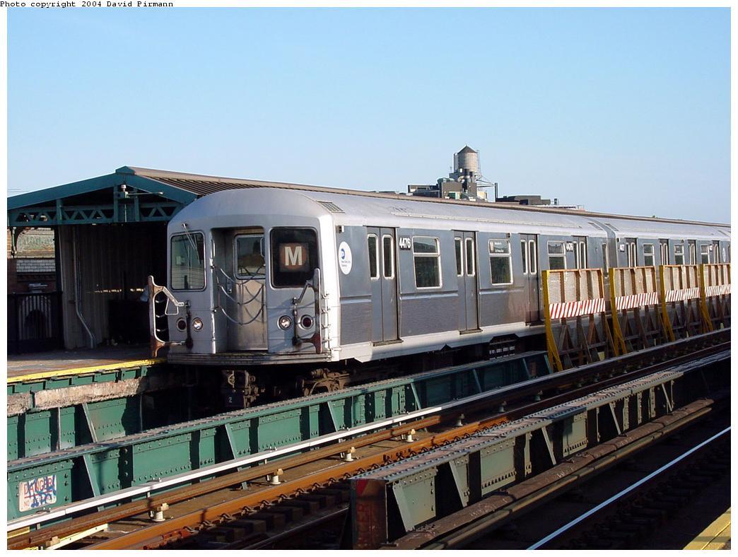 (129k, 1044x788)<br><b>Country:</b> United States<br><b>City:</b> New York<br><b>System:</b> New York City Transit<br><b>Line:</b> BMT West End Line<br><b>Location:</b> 71st Street <br><b>Route:</b> M<br><b>Car:</b> R-40M (St. Louis, 1969)  4476 <br><b>Photo by:</b> David Pirmann<br><b>Date:</b> 5/31/2000<br><b>Viewed (this week/total):</b> 4 / 8710