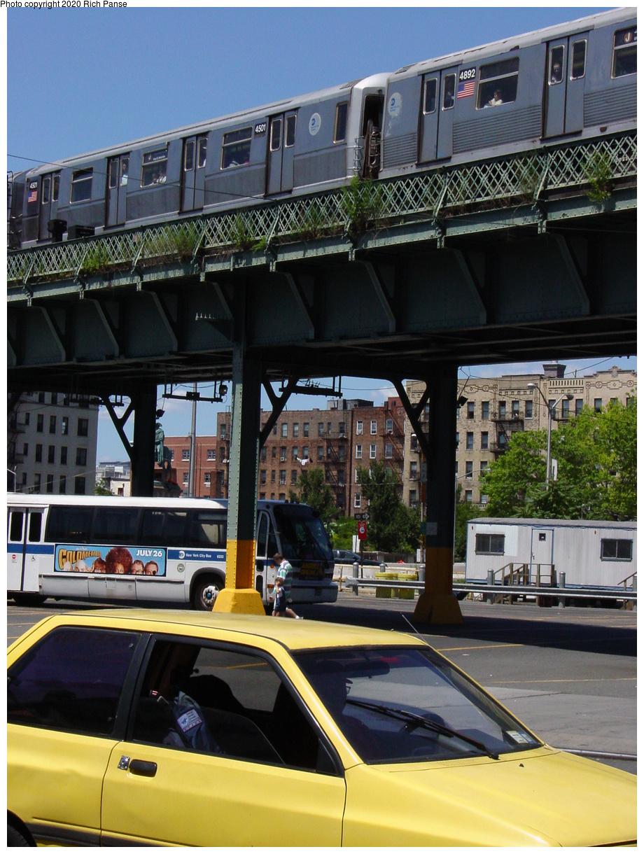 (85k, 620x820)<br><b>Country:</b> United States<br><b>City:</b> New York<br><b>System:</b> New York City Transit<br><b>Line:</b> BMT Nassau Street/Jamaica Line<br><b>Location:</b> Marcy Avenue <br><b>Car:</b> R-40M (St. Louis, 1969)  4501 <br><b>Photo by:</b> Richard Panse<br><b>Date:</b> 2002<br><b>Viewed (this week/total):</b> 1 / 4375