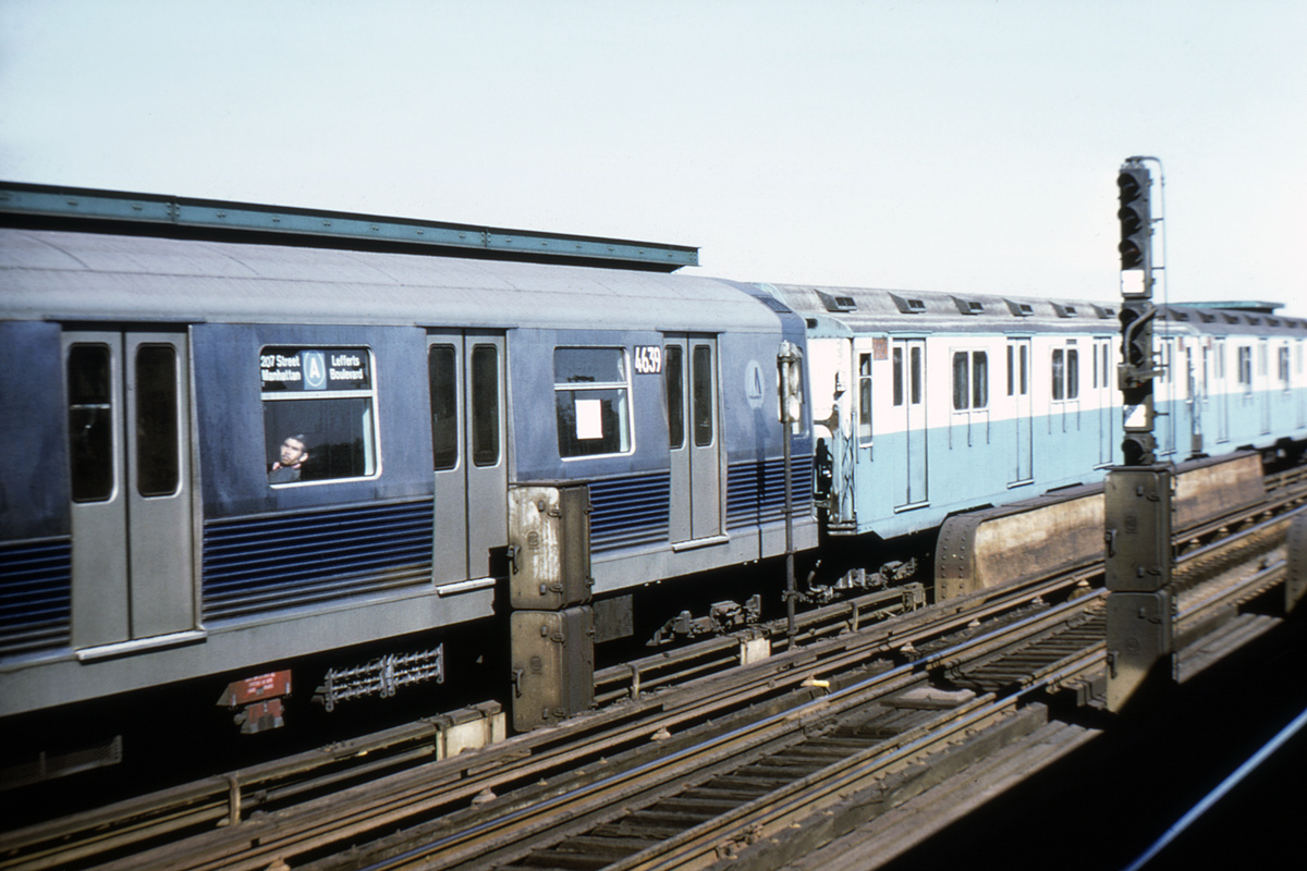 (345k, 1024x683)<br><b>Country:</b> United States<br><b>City:</b> New York<br><b>System:</b> New York City Transit<br><b>Line:</b> IND Fulton Street Line<br><b>Location:</b> 80th Street/Hudson Street <br><b>Route:</b> A<br><b>Car:</b> R-42 (St. Louis, 1969-1970)  4639 <br><b>Collection of:</b> David Pirmann<br><b>Notes:</b> With R10 cars<br><b>Viewed (this week/total):</b> 1 / 5018