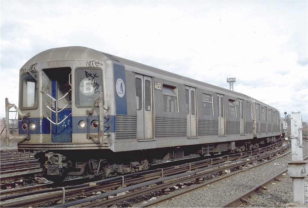(213k, 1024x692)<br><b>Country:</b> United States<br><b>City:</b> New York<br><b>System:</b> New York City Transit<br><b>Location:</b> Coney Island Yard<br><b>Car:</b> R-42 (St. Louis, 1969-1970)  4650 <br><b>Photo by:</b> Steve Zabel<br><b>Collection of:</b> Joe Testagrose<br><b>Date:</b> 11/21/1981<br><b>Viewed (this week/total):</b> 4 / 5094
