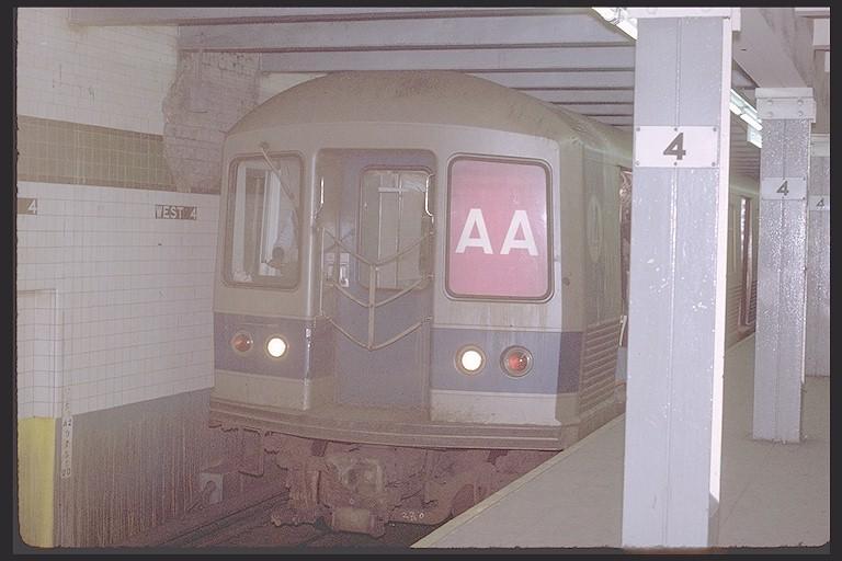(98k, 768x512)<br><b>Country:</b> United States<br><b>City:</b> New York<br><b>System:</b> New York City Transit<br><b>Line:</b> IND 8th Avenue Line<br><b>Location:</b> West 4th Street/Washington Square <br><b>Route:</b> AA<br><b>Car:</b> R-42 (St. Louis, 1969-1970)  4665 <br><b>Photo by:</b> Joe Testagrose<br><b>Date:</b> 1/22/1971<br><b>Viewed (this week/total):</b> 2 / 3710
