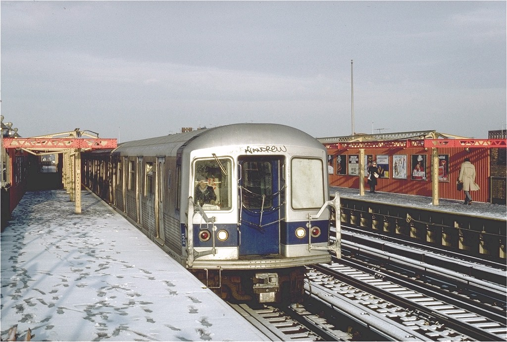 (212k, 1024x690)<br><b>Country:</b> United States<br><b>City:</b> New York<br><b>System:</b> New York City Transit<br><b>Line:</b> BMT West End Line<br><b>Location:</b> 20th Avenue <br><b>Route:</b> B<br><b>Car:</b> R-42 (St. Louis, 1969-1970)  4670 <br><b>Photo by:</b> Steve Zabel<br><b>Collection of:</b> Joe Testagrose<br><b>Date:</b> 12/16/1981<br><b>Viewed (this week/total):</b> 2 / 4480