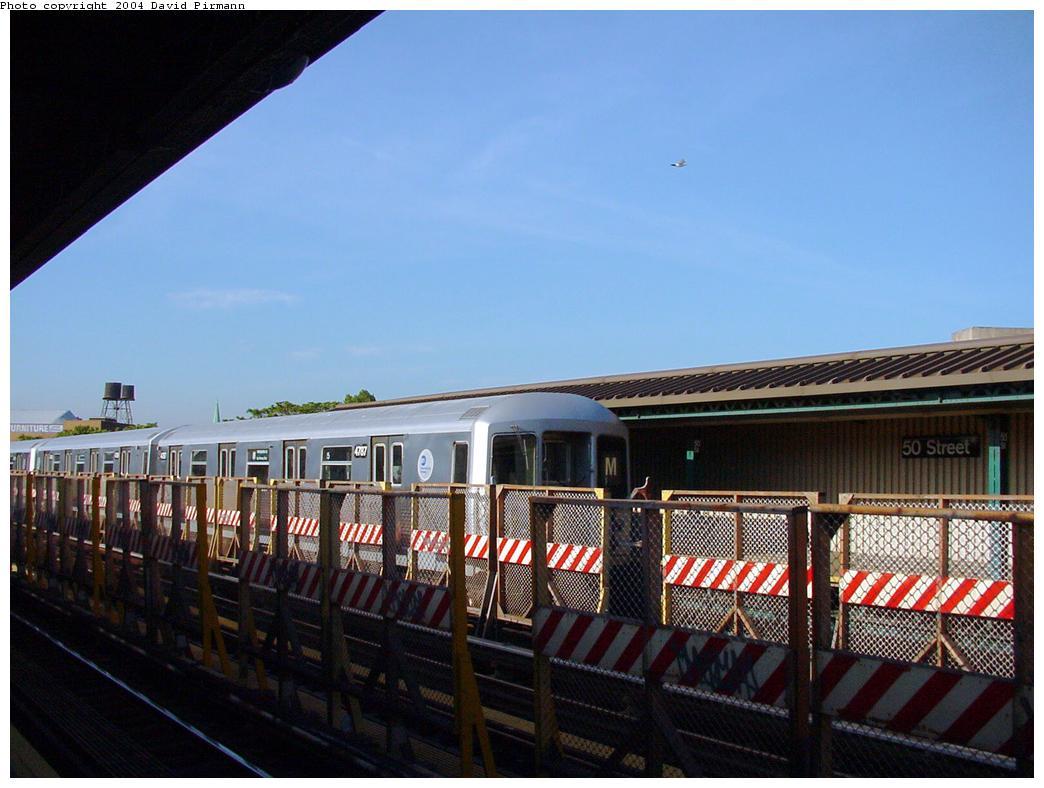 (114k, 1044x788)<br><b>Country:</b> United States<br><b>City:</b> New York<br><b>System:</b> New York City Transit<br><b>Line:</b> BMT West End Line<br><b>Location:</b> 50th Street <br><b>Route:</b> M<br><b>Car:</b> R-42 (St. Louis, 1969-1970)  4737 <br><b>Photo by:</b> David Pirmann<br><b>Date:</b> 5/31/2000<br><b>Viewed (this week/total):</b> 2 / 3290