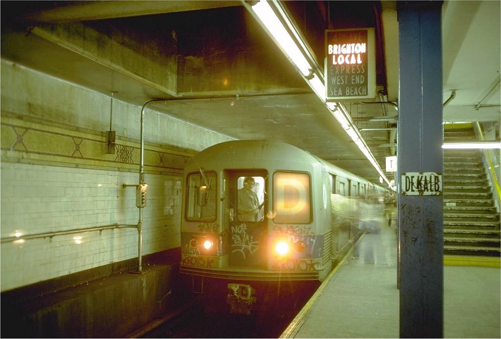 (181k, 1024x693)<br><b>Country:</b> United States<br><b>City:</b> New York<br><b>System:</b> New York City Transit<br><b>Location:</b> DeKalb Avenue<br><b>Route:</b> D<br><b>Car:</b> R-42 (St. Louis, 1969-1970)  4754 <br><b>Photo by:</b> Doug Grotjahn<br><b>Collection of:</b> Joe Testagrose<br><b>Date:</b> 6/11/1977<br><b>Viewed (this week/total):</b> 1 / 7204