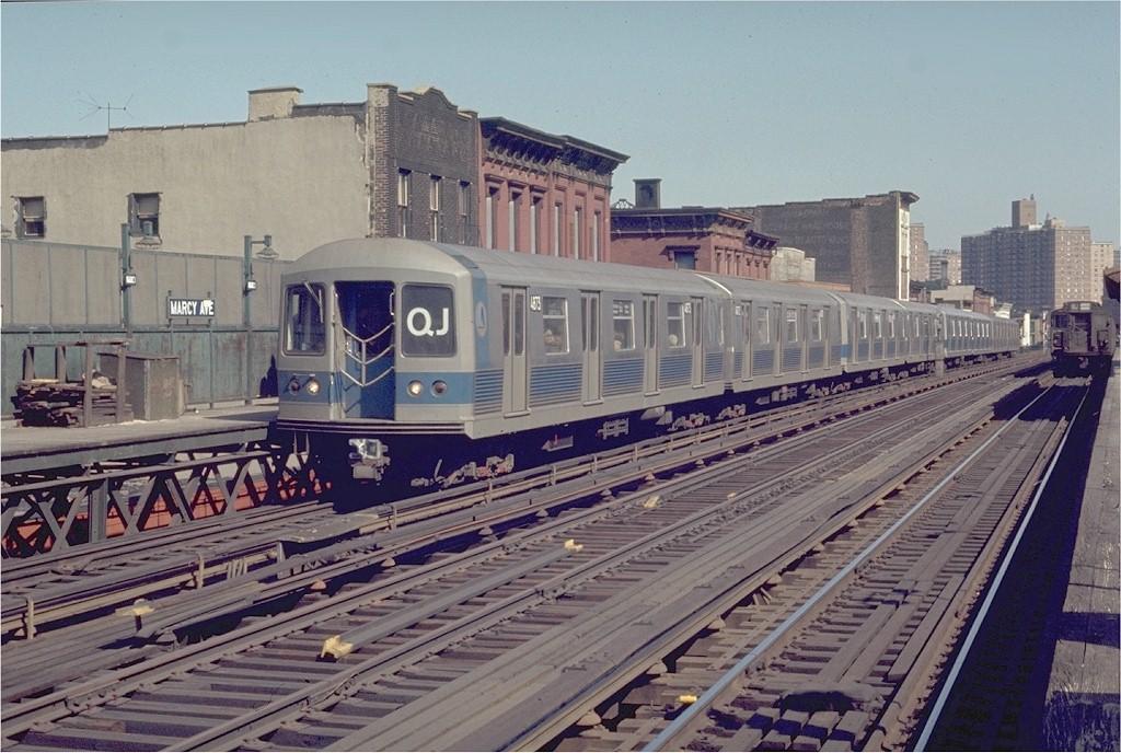 (213k, 1024x688)<br><b>Country:</b> United States<br><b>City:</b> New York<br><b>System:</b> New York City Transit<br><b>Line:</b> BMT Nassau Street/Jamaica Line<br><b>Location:</b> Marcy Avenue <br><b>Route:</b> QJ<br><b>Car:</b> R-42 (St. Louis, 1969-1970)  4873 <br><b>Photo by:</b> Joe Testagrose<br><b>Date:</b> 4/12/1970<br><b>Viewed (this week/total):</b> 2 / 2824