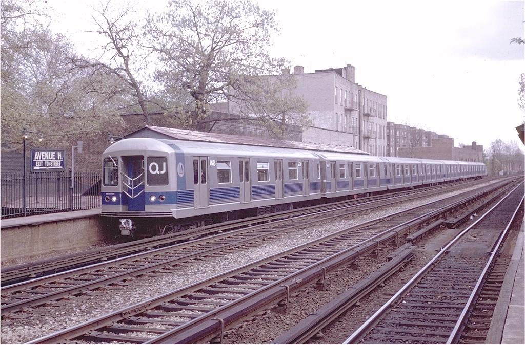 (273k, 1024x674)<br><b>Country:</b> United States<br><b>City:</b> New York<br><b>System:</b> New York City Transit<br><b>Line:</b> BMT Brighton Line<br><b>Location:</b> Avenue H <br><b>Route:</b> QJ<br><b>Car:</b> R-42 (St. Louis, 1969-1970)  4876 <br><b>Photo by:</b> Steve Zabel<br><b>Collection of:</b> Joe Testagrose<br><b>Date:</b> 5/6/1970<br><b>Viewed (this week/total):</b> 1 / 3776