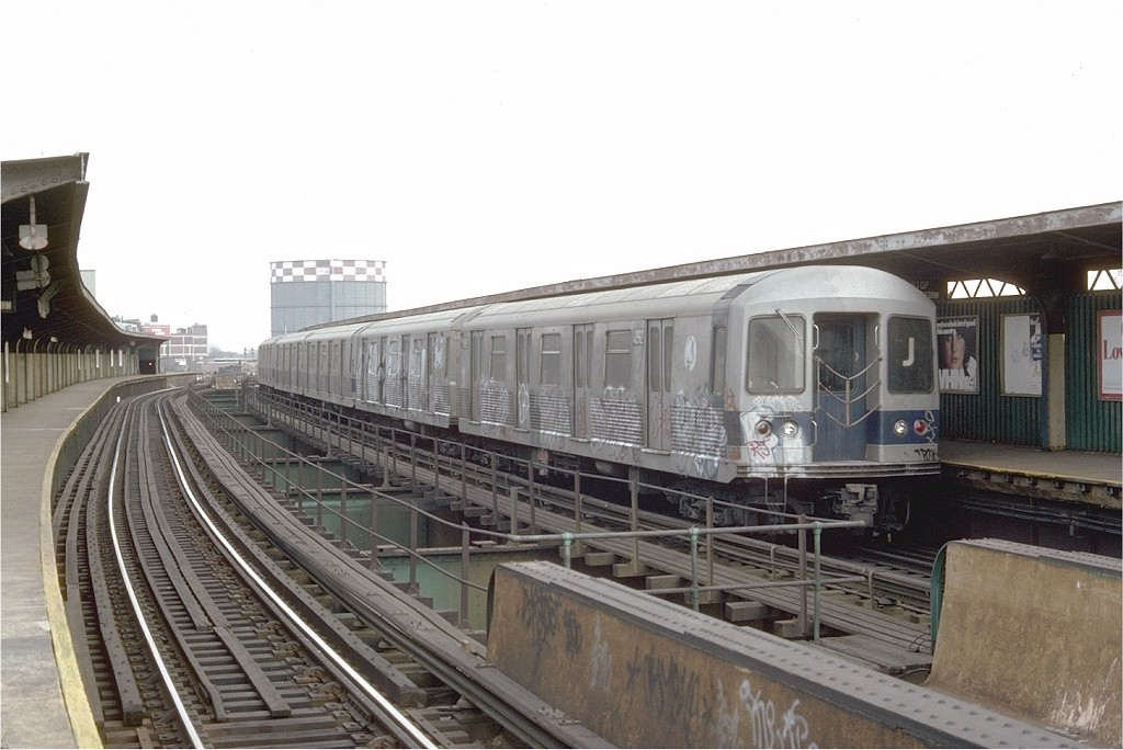 (165k, 1024x684)<br><b>Country:</b> United States<br><b>City:</b> New York<br><b>System:</b> New York City Transit<br><b>Line:</b> BMT Nassau Street/Jamaica Line<br><b>Location:</b> Queens Boulevard (Demolished) <br><b>Route:</b> J<br><b>Car:</b> R-42 (St. Louis, 1969-1970)  4892 <br><b>Photo by:</b> Doug Grotjahn<br><b>Collection of:</b> Joe Testagrose<br><b>Date:</b> 2/16/1976<br><b>Viewed (this week/total):</b> 0 / 5667