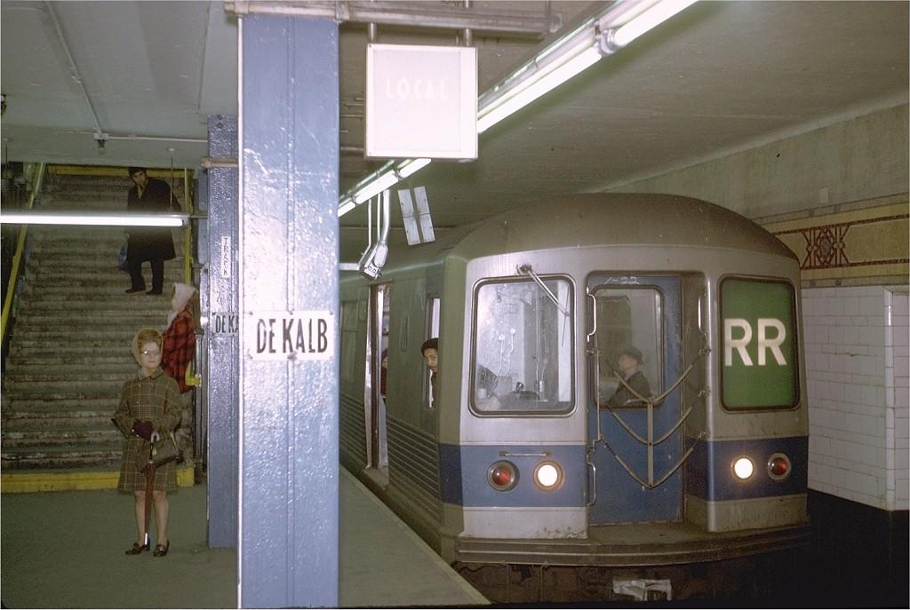 (180k, 1024x687)<br><b>Country:</b> United States<br><b>City:</b> New York<br><b>System:</b> New York City Transit<br><b>Location:</b> DeKalb Avenue<br><b>Route:</b> RR<br><b>Car:</b> R-42 (St. Louis, 1969-1970)  48xx <br><b>Photo by:</b> Steve Zabel<br><b>Collection of:</b> Joe Testagrose<br><b>Date:</b> 1/23/1971<br><b>Viewed (this week/total):</b> 2 / 3928