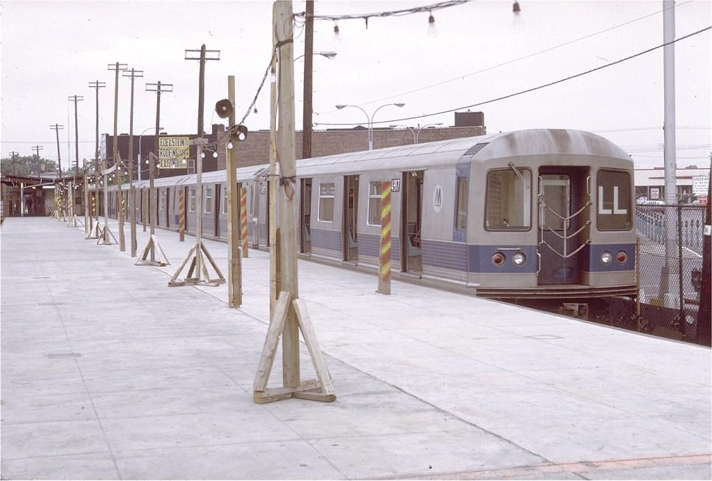 (175k, 1024x692)<br><b>Country:</b> United States<br><b>City:</b> New York<br><b>System:</b> New York City Transit<br><b>Line:</b> BMT Canarsie Line<br><b>Location:</b> Rockaway Parkway <br><b>Route:</b> LL<br><b>Car:</b> R-42 (St. Louis, 1969-1970)  4917 <br><b>Photo by:</b> Doug Grotjahn<br><b>Collection of:</b> Joe Testagrose<br><b>Date:</b> 7/11/1971<br><b>Viewed (this week/total):</b> 2 / 3660