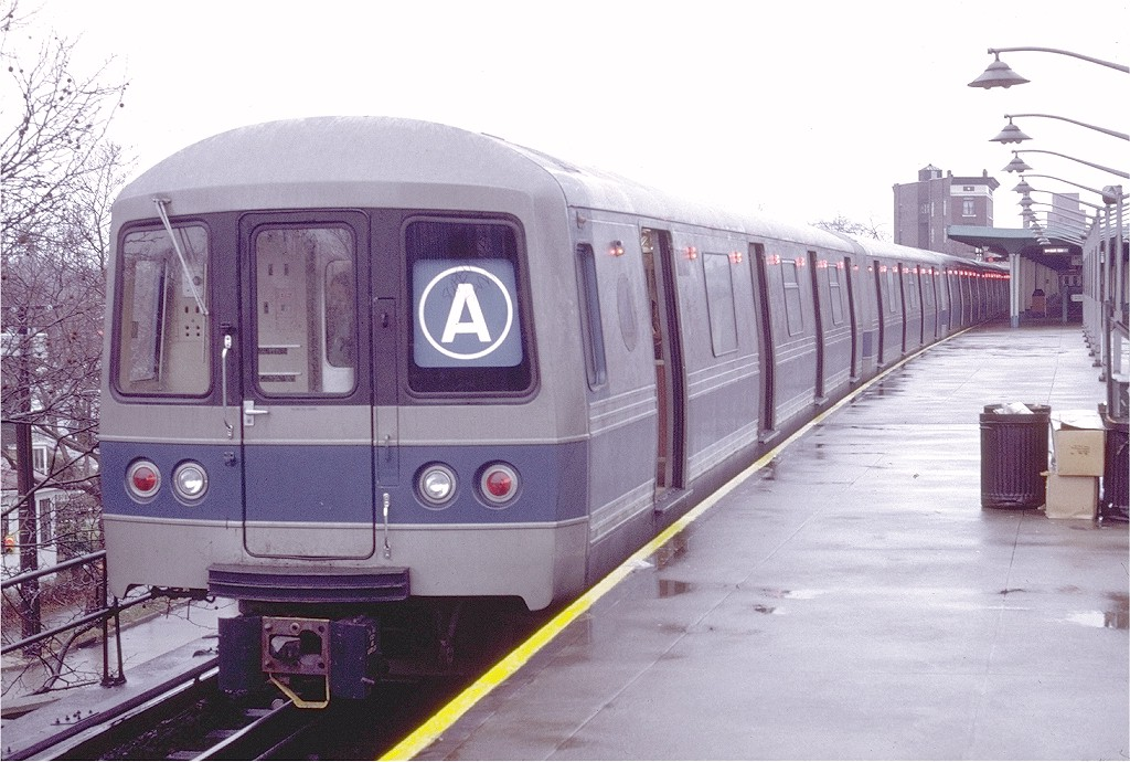 (202k, 1024x690)<br><b>Country:</b> United States<br><b>City:</b> New York<br><b>System:</b> New York City Transit<br><b>Line:</b> IND Rockaway<br><b>Location:</b> Mott Avenue/Far Rockaway <br><b>Route:</b> A<br><b>Car:</b> R-44 (St. Louis, 1971-73) 110 <br><b>Photo by:</b> Doug Grotjahn<br><b>Collection of:</b> Joe Testagrose<br><b>Date:</b> 1/2/1972<br><b>Viewed (this week/total):</b> 3 / 9719