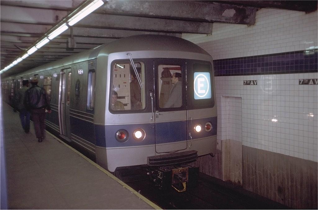 (169k, 1024x676)<br><b>Country:</b> United States<br><b>City:</b> New York<br><b>System:</b> New York City Transit<br><b>Line:</b> IND Queens Boulevard Line<br><b>Location:</b> 7th Avenue/53rd Street <br><b>Route:</b> E<br><b>Car:</b> R-44 (St. Louis, 1971-73) 112 <br><b>Photo by:</b> Doug Grotjahn<br><b>Collection of:</b> Joe Testagrose<br><b>Date:</b> 12/23/1971<br><b>Viewed (this week/total):</b> 1 / 5928