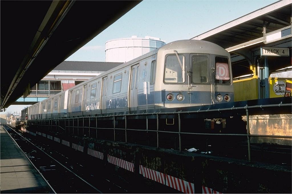 (176k, 1024x682)<br><b>Country:</b> United States<br><b>City:</b> New York<br><b>System:</b> New York City Transit<br><b>Location:</b> Coney Island/Stillwell Avenue<br><b>Route:</b> D<br><b>Car:</b> R-44 (St. Louis, 1971-73) 266 <br><b>Photo by:</b> Doug Grotjahn<br><b>Collection of:</b> Joe Testagrose<br><b>Date:</b> 2/12/1977<br><b>Viewed (this week/total):</b> 3 / 5922