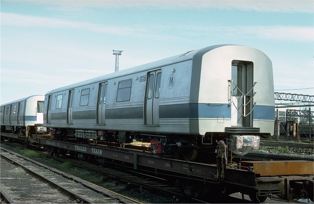 (194k, 1024x668)<br><b>Country:</b> United States<br><b>City:</b> Hoboken, NJ<br><b>System:</b> New York City Transit<br><b>Location:</b> Hoboken Yard <br><b>Car:</b> R-46 (Pullman-Standard, 1974-75) 1057 <br><b>Photo by:</b> Ed McKernan<br><b>Collection of:</b> Joe Testagrose<br><b>Date:</b> 6/13/1977<br><b>Viewed (this week/total):</b> 1 / 3332