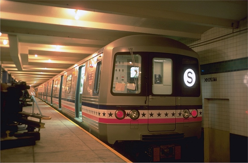 (147k, 1024x673)<br><b>Country:</b> United States<br><b>City:</b> New York<br><b>System:</b> New York City Transit<br><b>Location:</b> New York Transit Museum<br><b>Car:</b> R-46 (Pullman-Standard, 1974-75) 680 <br><b>Photo by:</b> Doug Grotjahn<br><b>Collection of:</b> Joe Testagrose<br><b>Date:</b> 7/5/1976<br><b>Viewed (this week/total):</b> 0 / 15817