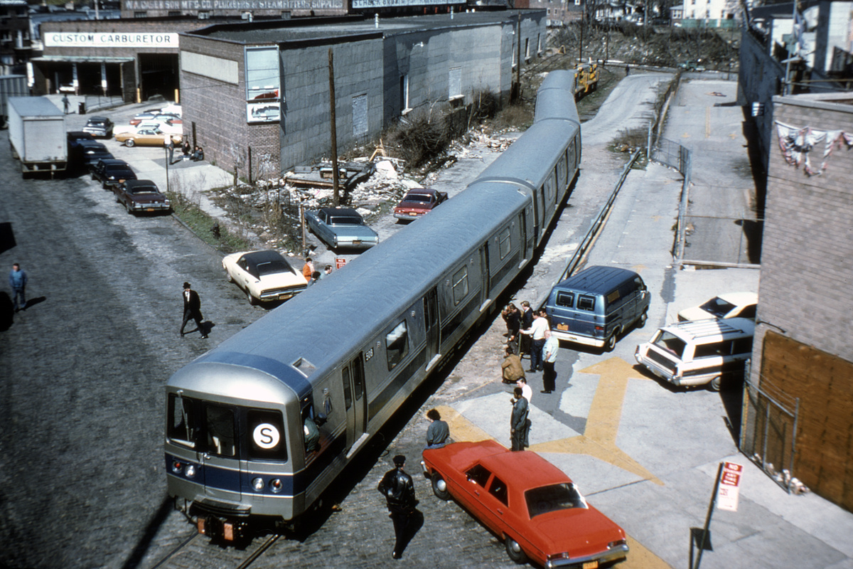(421k, 1024x683)<br><b>Country:</b> United States<br><b>City:</b> New York<br><b>System:</b> New York City Transit<br><b>Location:</b> LIRR Parkville Jct<br><b>Car:</b> R-46 (Pullman-Standard, 1974-75) 508 <br><b>Photo by:</b> Steve Zabel<br><b>Collection of:</b> David Pirmann<br><b>Date:</b> 4/23/1975<br><b>Viewed (this week/total):</b> 2 / 8297