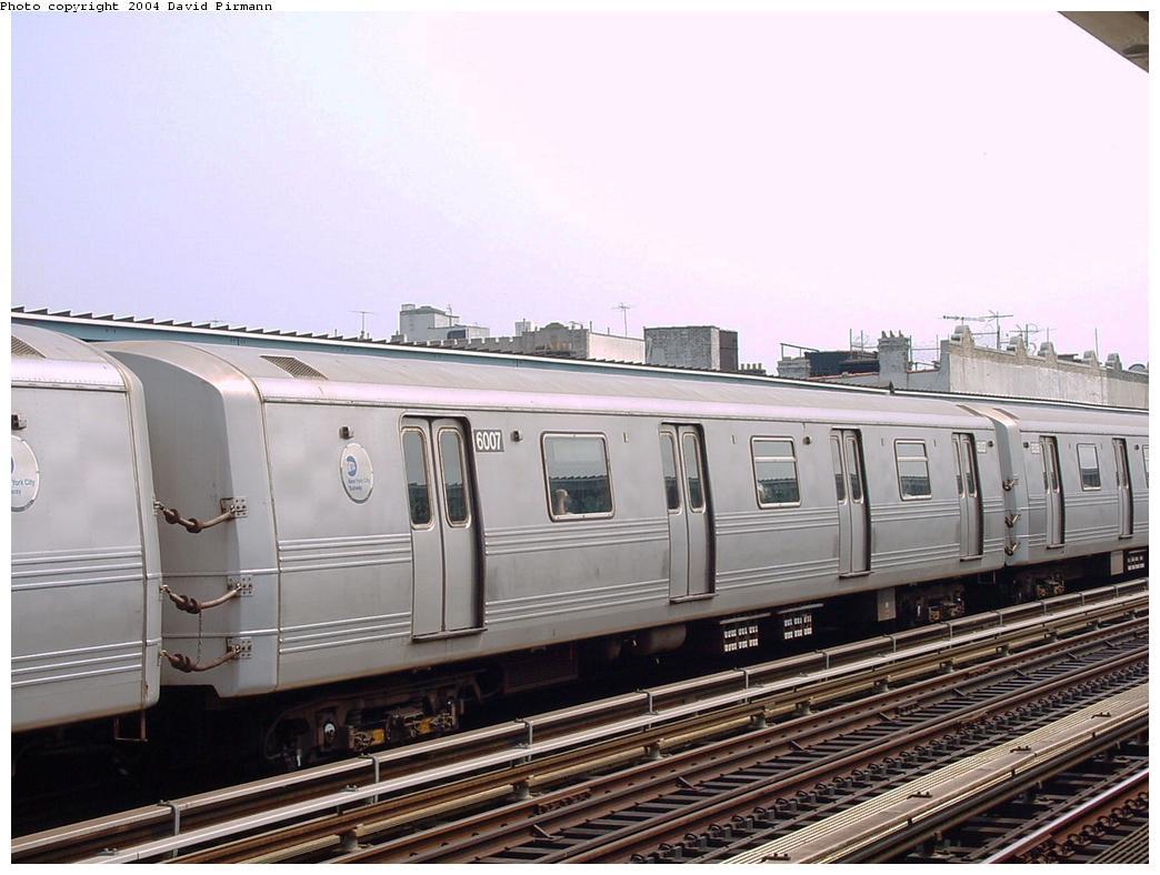 (118k, 1044x788)<br><b>Country:</b> United States<br><b>City:</b> New York<br><b>System:</b> New York City Transit<br><b>Line:</b> BMT Culver Line<br><b>Location:</b> Ditmas Avenue <br><b>Route:</b> F<br><b>Car:</b> R-46 (Pullman-Standard, 1974-75) 6007 <br><b>Photo by:</b> David Pirmann<br><b>Date:</b> 8/27/2000<br><b>Viewed (this week/total):</b> 0 / 3180