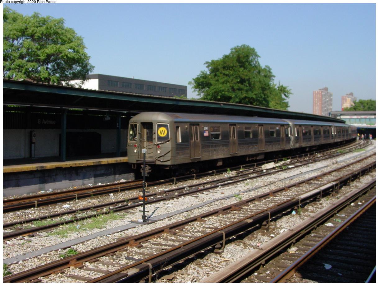 (93k, 820x620)<br><b>Country:</b> United States<br><b>City:</b> New York<br><b>System:</b> New York City Transit<br><b>Line:</b> BMT Sea Beach Line<br><b>Location:</b> 8th Avenue <br><b>Route:</b> N<br><b>Car:</b> R-68 (Westinghouse-Amrail, 1986-1988)  2890 <br><b>Photo by:</b> Richard Panse<br><b>Date:</b> 8/1/2002<br><b>Viewed (this week/total):</b> 1 / 4266