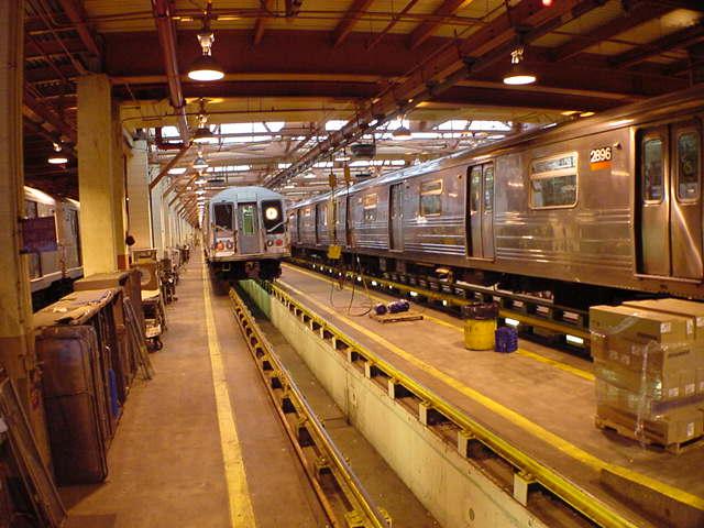 (59k, 640x480)<br><b>Country:</b> United States<br><b>City:</b> New York<br><b>System:</b> New York City Transit<br><b>Location:</b> Coney Island Shop/Maint. & Inspection Shop<br><b>Car:</b> R-68 (Westinghouse-Amrail, 1986-1988)  2896 <br><b>Photo by:</b> Salaam Allah<br><b>Date:</b> 10/29/2000<br><b>Viewed (this week/total):</b> 1 / 6874
