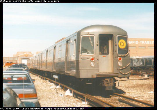 (40k, 540x379)<br><b>Country:</b> United States<br><b>City:</b> New York<br><b>System:</b> New York City Transit<br><b>Location:</b> Coney Island Yard<br><b>Car:</b> R-68A (Kawasaki, 1988-1989)  5055 <br><b>Photo by:</b> Jason R. DeCesare<br><b>Viewed (this week/total):</b> 0 / 3820