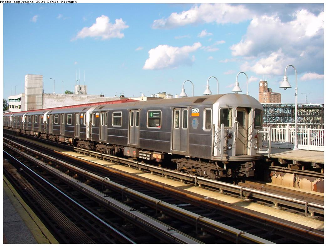 (126k, 1044x788)<br><b>Country:</b> United States<br><b>City:</b> New York<br><b>System:</b> New York City Transit<br><b>Line:</b> IRT Woodlawn Line<br><b>Location:</b> Fordham Road <br><b>Route:</b> 4<br><b>Car:</b> R-62 (Kawasaki, 1983-1985)  1350 <br><b>Photo by:</b> David Pirmann<br><b>Date:</b> 7/12/2001<br><b>Viewed (this week/total):</b> 2 / 9686
