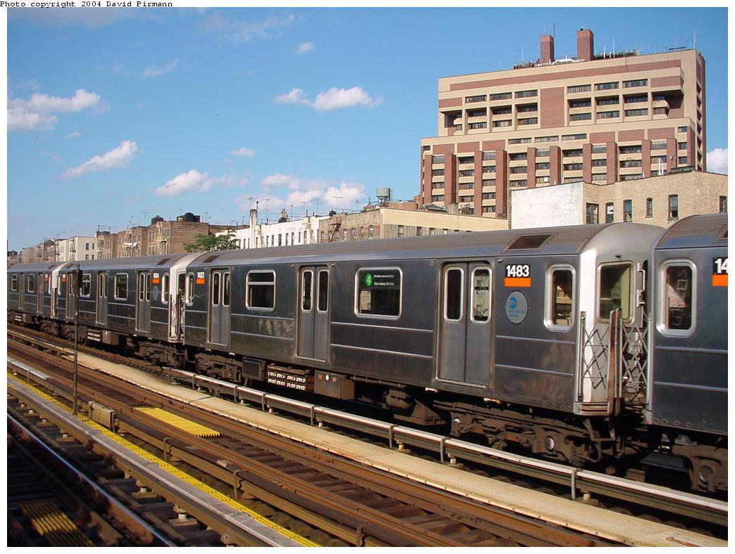(143k, 1044x788)<br><b>Country:</b> United States<br><b>City:</b> New York<br><b>System:</b> New York City Transit<br><b>Line:</b> IRT Woodlawn Line<br><b>Location:</b> Mosholu Parkway <br><b>Route:</b> 4<br><b>Car:</b> R-62 (Kawasaki, 1983-1985)  1483 <br><b>Photo by:</b> David Pirmann<br><b>Date:</b> 7/12/2001<br><b>Viewed (this week/total):</b> 3 / 8106