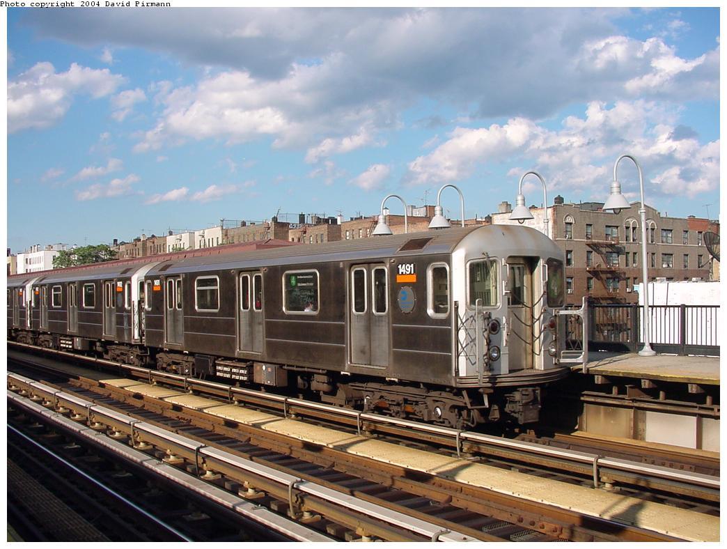 (139k, 1044x788)<br><b>Country:</b> United States<br><b>City:</b> New York<br><b>System:</b> New York City Transit<br><b>Line:</b> IRT Woodlawn Line<br><b>Location:</b> Kingsbridge Road <br><b>Route:</b> 4<br><b>Car:</b> R-62 (Kawasaki, 1983-1985)  1491 <br><b>Photo by:</b> David Pirmann<br><b>Date:</b> 7/12/2001<br><b>Viewed (this week/total):</b> 3 / 4340